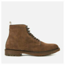 Barbour Men's Seaburn Derby Suede Lace Up Boots - Tobacco - UK 11 - Tan