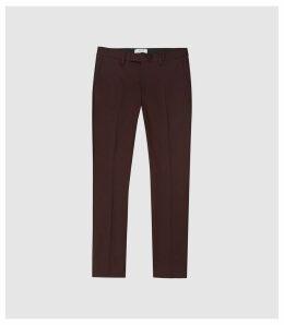 Reiss Eastbury Slim - Slim Fit Chinos in Bordeaux, Mens, Size 38