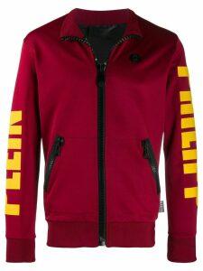 Philipp Plein Logo print jogging jacket - Red