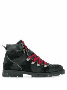 Jimmy Choo Barra oiled suede hiker boots - Black