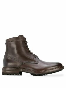 Henderson Baracco lace-up leather boots - Brown