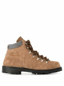 Andrea Ventura lace-up ankle boots - Neutrals