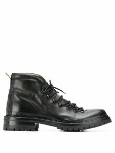 Officine Creative lace up ankle boots - Black