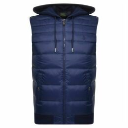 Ralph Lauren Hooded Down Gilet Navy