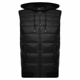 Ralph Lauren Hooded Down Gilet Black
