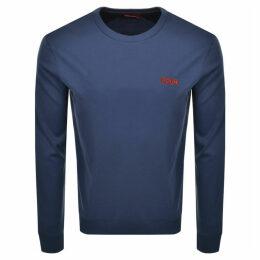 HUGO Drick 194 Sweatshirt Blue