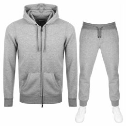 Emporio Armani Full Zip Hooded Tracksuit Grey