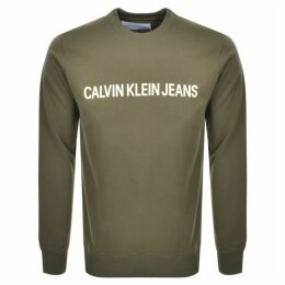 Calvin Klein Jeans Institutional Sweatshirt Green