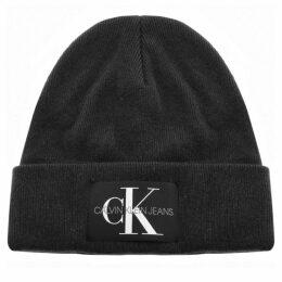 Calvin Klein Jeans Knit Logo Beanie Hat Black