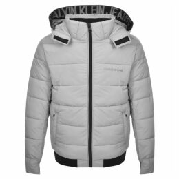Calvin Klein Jeans Hooded Down Jacket Beige
