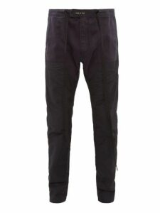 Fear Of God - Nylon Panel Cotton Twill Trousers - Mens - Navy