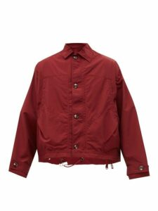 E. Tautz - Cotton Blend Windbreaker Jacket - Mens - Burgundy