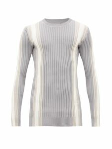 Eytys - Incubus Striped Ribbed Sweater - Mens - Grey White