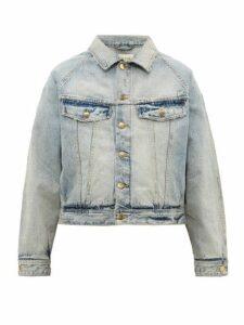 Fear Of God - Cropped Distressed Denim Jacket - Mens - Light Blue