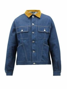E. Tautz - Corduroy Collar Denim Jacket - Mens - Denim