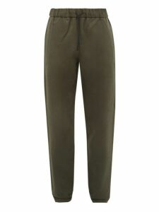 A.p.c. - Elasticated Cotton Blend Twill Slim Leg Chinos - Mens - Khaki