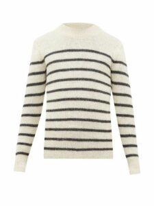 Isabel Marant - George Striped Alpaca Blend Sweater - Mens - Grey