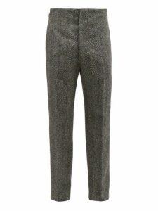 Maison Margiela - Wool Herringbone Trousers - Mens - Black White