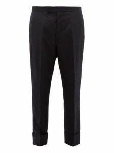 Thom Browne - Straight Leg Super 120s Wool Twill Trousers - Mens - Navy