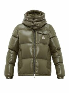 Moncler - Montbeliard Tricolour Two Way Zip Down Jacket - Mens - Khaki