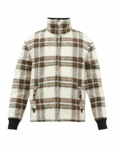 Isabel Marant - Geeno Checked Wool Blend Bomber Jacket - Mens - Khaki
