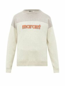 Isabel Marant - Ennet Logo Intarsia Sweater - Mens - Grey
