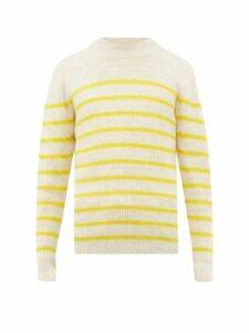 Isabel Marant - George Striped Alpaca Blend Sweater - Mens - Yellow Multi