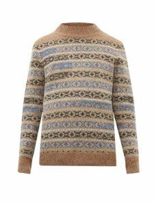 Isabel Marant - Nills Fair Isle Wool Sweater - Mens - Grey Multi