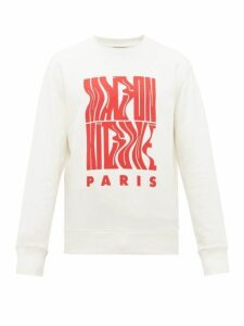Maison Kitsuné - Logo Print Cotton Sweatshirt - Mens - White