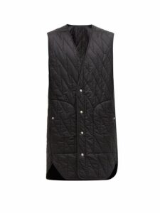 Rick Owens - Long Line Quilted Shell Gilet - Mens - Black