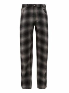 Eytys - Benz Tartan Wool Blend Jeans - Mens - Black Grey