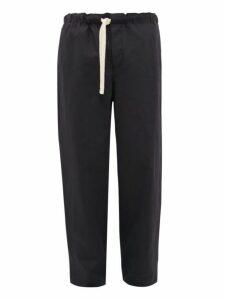 Loewe - Rope Drawstring Cotton Blend Trousers - Mens - Navy