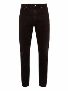Saint Laurent - Washed Cotton Slim Leg Jeans - Mens - Black