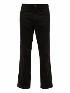 Lemaire - Pressed Front Straight Leg Jeans - Mens - Black