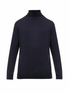 A.p.c. - Roll Neck Merino Wool Sweater - Mens - Navy