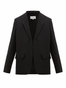 Maison Margiela - Cut Out Single Breasted Wool Jacket - Mens - Black