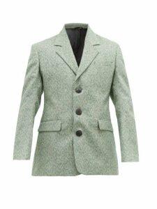 Namacheko - Shirin Single Breasted Wool Blend Jacket - Mens - Green