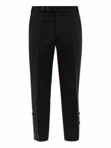 Namacheko - Bawanim Button Cuff Cropped Cotton Blend Trousers - Mens - Black