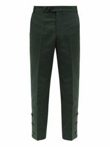 Namacheko - Bawanim Button Cuff Cotton Blend Trousers - Mens - Green