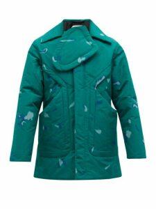Namacheko - Kiwa Chest Panel Printed Jacket - Mens - Green