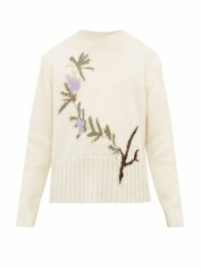 Jacquemus - Rosemary Jacquard Wool Blend Sweater - Mens - White