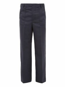 Jacquemus - Pleated Wool Trousers - Mens - Navy
