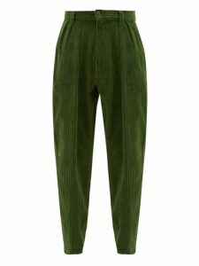 E. Tautz - Chore Cotton Corduroy Tapered Trousers - Mens - Green
