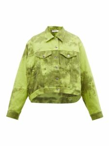 Marques'almeida - Tie Dye Denim Jacket - Mens - Green