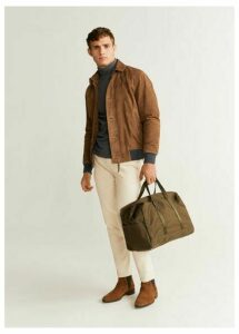 Brown suede aviator jacket