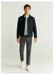 Textured cotton-blend jacket