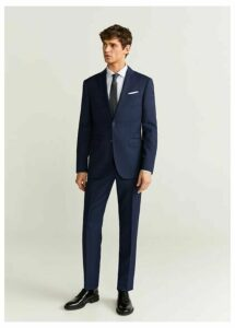 Slim fit virgin wool suit trousers