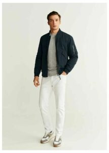 Quilted waterproof bomber jacket