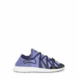Y-3 Raito Racer Blue Stretch-knit Sneakers