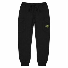 Stone Island Black Cotton Sweatpants
